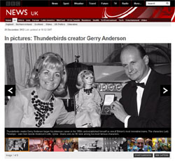 BBC News「In pictures: Thunderbirds creator Gerry Anderson」(部分)