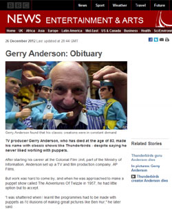 BBC News「Gerry Anderson: Obituary」(部分)