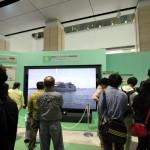 1階ホール、スーパーハイビジョン(8Kテレビ)展示