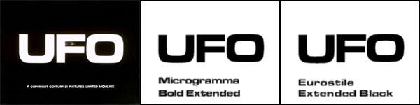 「謎の円盤UFO」タイトルロゴ比較