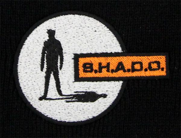 UFO/SHADO公式ニットキャップの刺繍部分