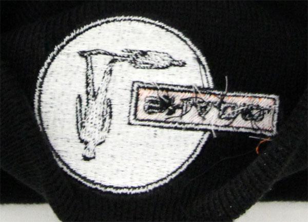 UFO/SHADO公式ニットキャップの刺繍部分(裏側)
