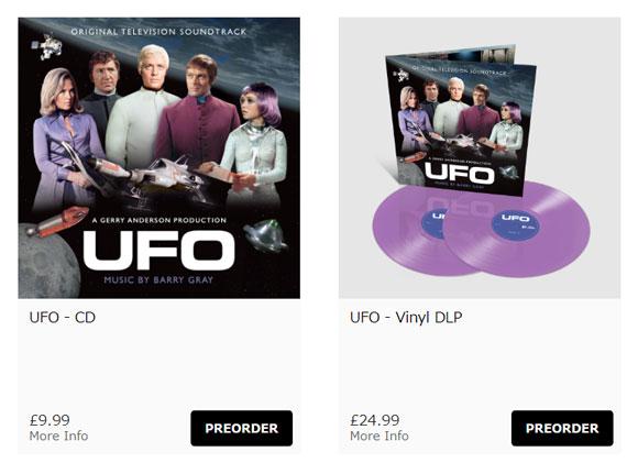 「謎の円盤UFO」オリジナルサウンドトラック(Silva Screen Recordsサイトより)