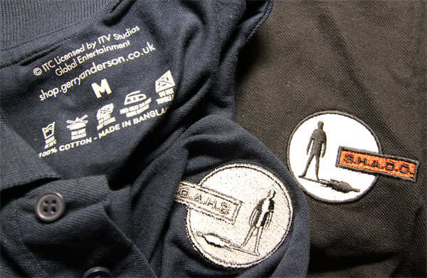 UFO/SHADO公式男性用ポロシャツの刺繍部分